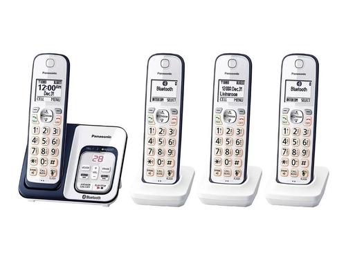 telefono inalambrico panasonic kx-tgd564a 4 auriculares