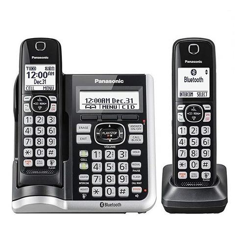 telefono inalambrico panasonic kx-tgf572s 2 auriculares