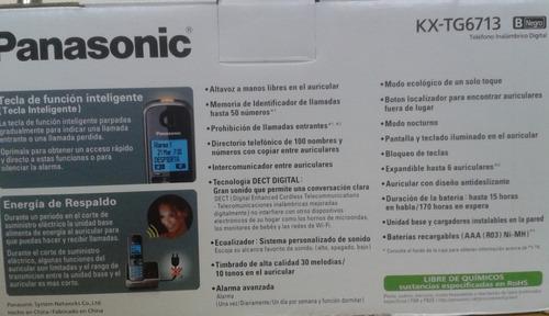 teléfono inalambrico panasonic kxtg 6713 leer descripción