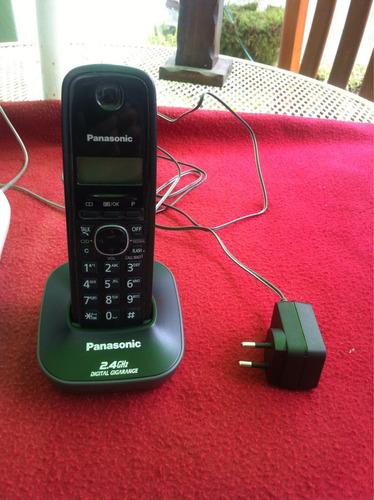teléfono inalámbrico panasonic + teléfono fijo visuatel