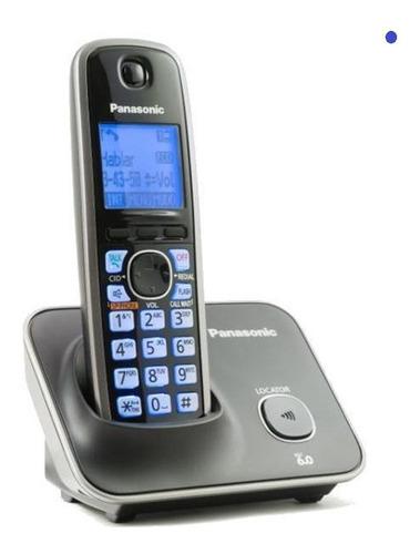 teléfono inalámbrico panasonic tg4111 lcd escritorio negro