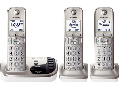 telefono inalambrico panasonic triple dect 6.0 tgd223