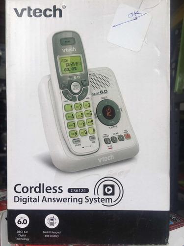 teléfono inalámbrico vtech blanco con contestadora