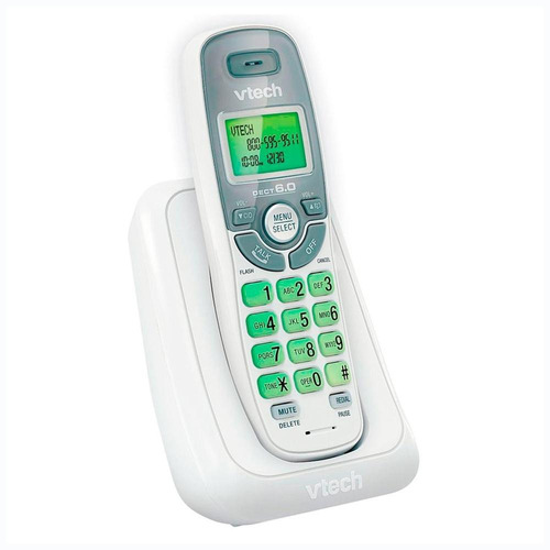 telefono inalambrico vtech detec 6.0 digital cs6114 blanco