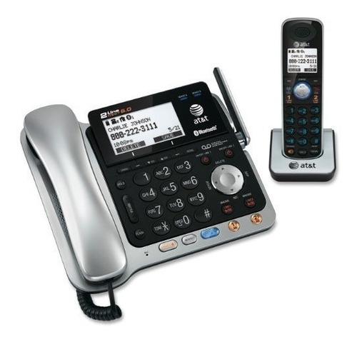telefono inalámbrico y contestadora bluetooth at&t 86109