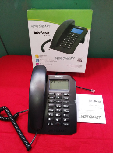 telefono intelbras tc 60 con id con manos libres color negro