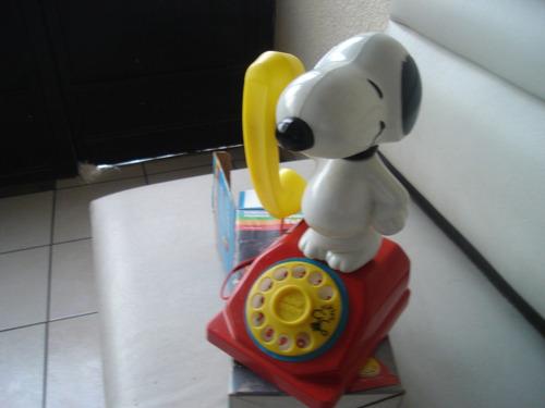 telefono juguete antiguo snoopy lili ledy