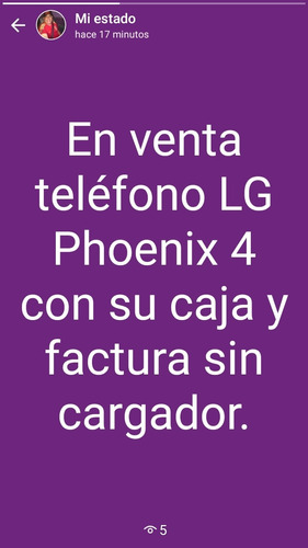 teléfono lg phoenix 4