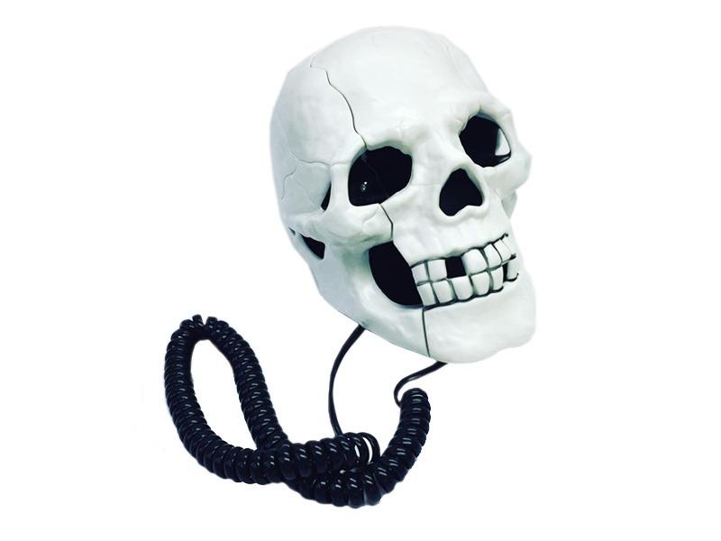 Teléfono Linea Calavera Skull Mesa Craneo Humano Figuras - $ 1.025 ...