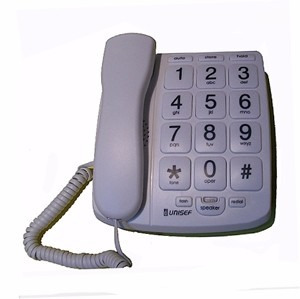 telefono mesa unisef ht-320 numeros grandes / memorias