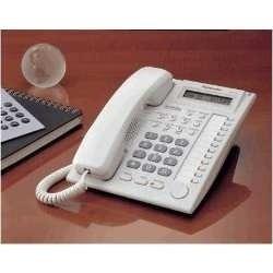 teléfono multilinea panasonic kx-t7730 blanco 24 teclas