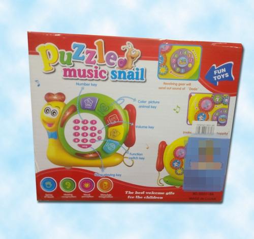 telefono musical caracol juguetes jugueteria niños