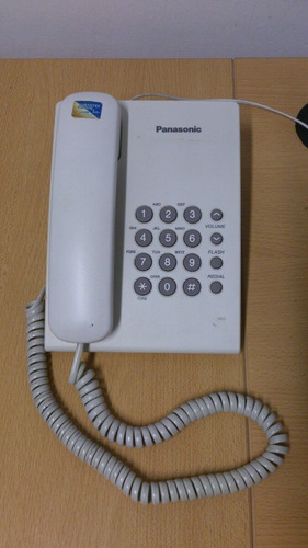 teléfono panasonic blanco
