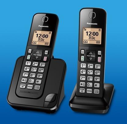 telefono panasonic inalambrico 2 unidadaes + dect 6.0 + new