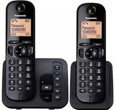 teléfono panasonic inalambrico+ 2 unidades +contestadora+new