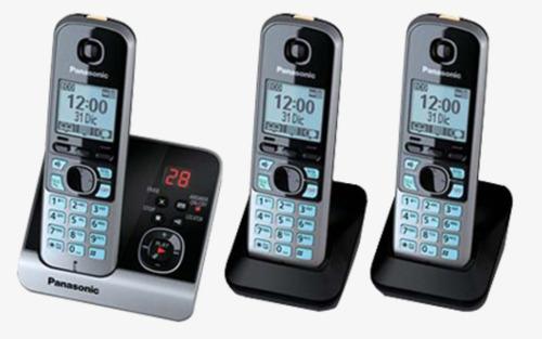 telefono panasonic inalambrico 3 unidades + contestador +new
