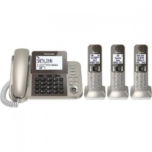 teléfono panasonic inalámbrico con 3 auxiliares