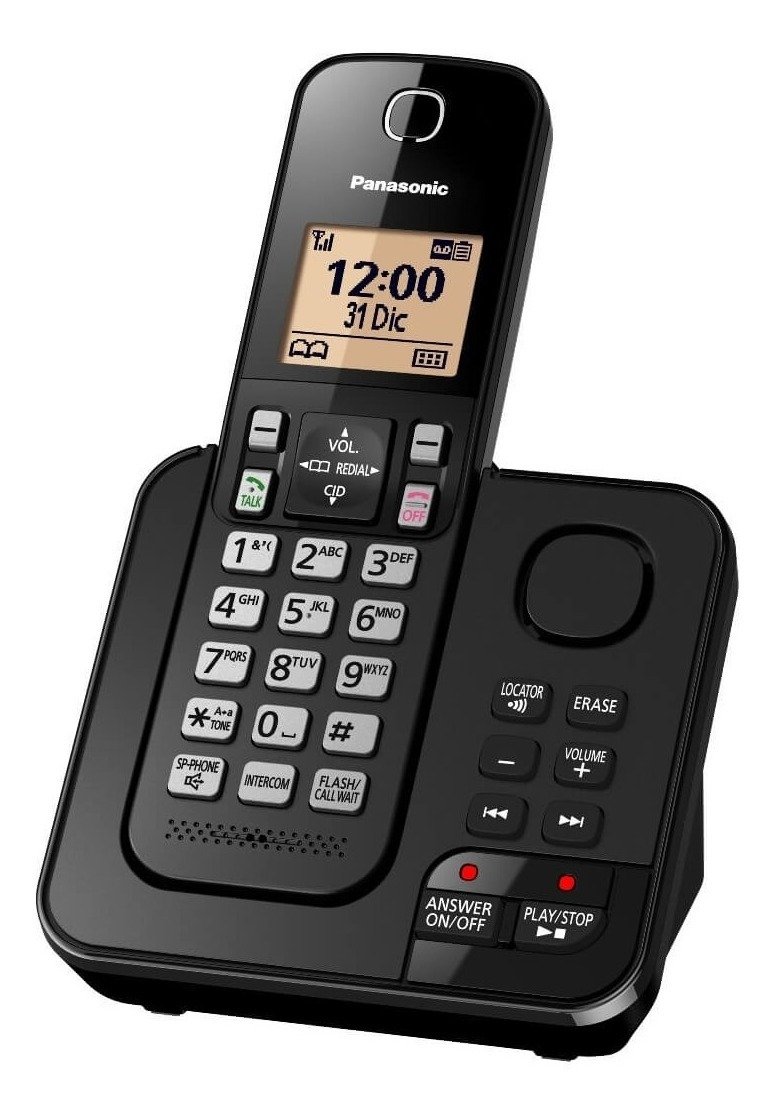 715e9023e6d Teléfono Panasonic Inalámbrico Kxtgc 360 Con Contestador - $ 143.000 en  Mercado Libre