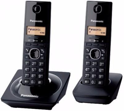 teléfono panasonic kx-tg1712meb, escritorio, negro, no, si,