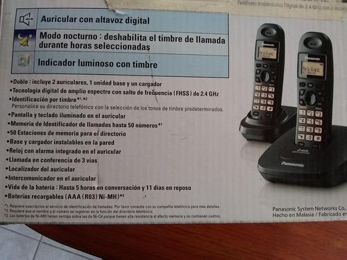 telefono panasonic kx-tg3612, 2 auriculares