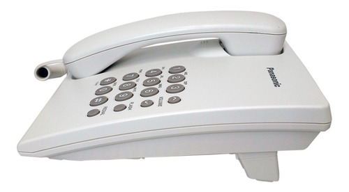telefono panasonic kx-ts500 alambrico basico unilinea blanco