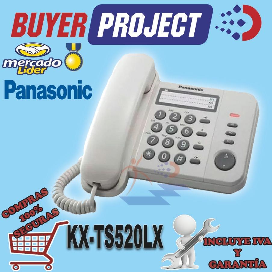 Tel fono panasonic kx ts520lx cabinas oficina casa extens for Telefono oficinas