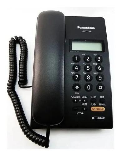 telefono panasonic kxt7705 identificador llamada manos libres apto centrales o fijo