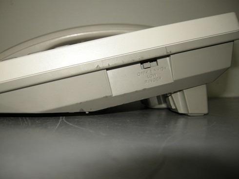 telefono panasonic kxts600lx en perfecto estado.color blanco