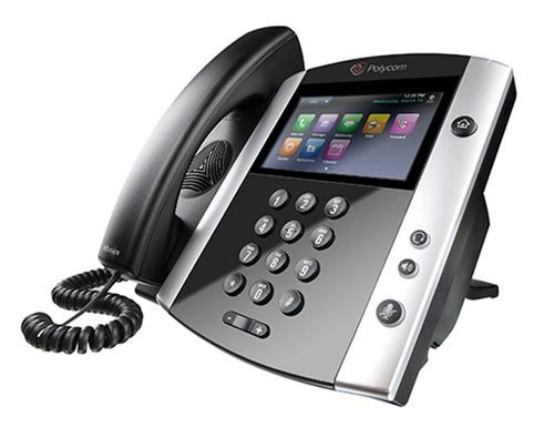 telefono polycom ip vvx 600 con voz hd 2200-44600-025