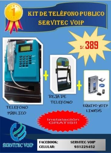 telefono publico monedero voip / chip