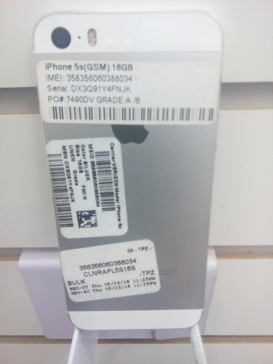 Telefono Reconstruido Iphone5sgsm16 Gbcolor Negro Y Plata Iphone 5s Gsm 16 Gb Cargando Zoom