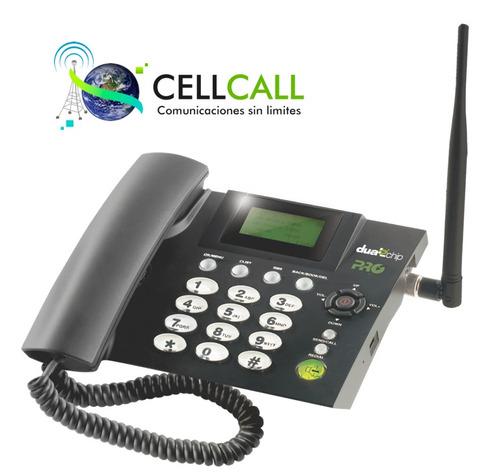teléfono rural celu fijo gsm 2 sim, para fincas, hogar