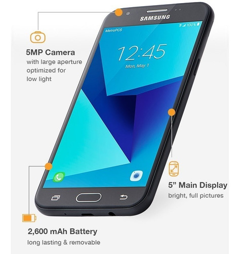 telefono samsung galaxy j3 prime 16gb 4g lte metropcs
