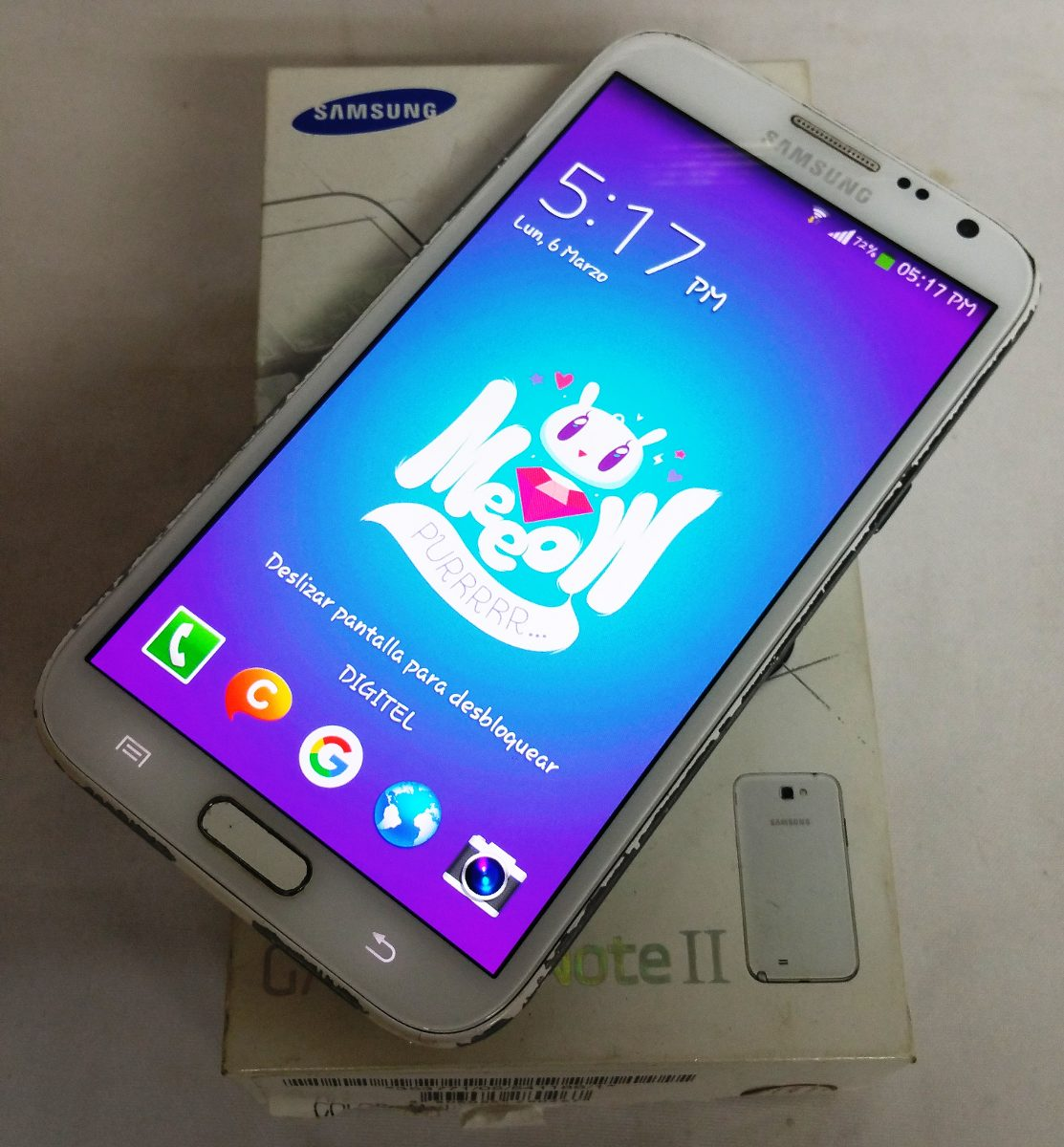 c91f545924dea Telefono Samsung Galaxy Note 2 (usado 100% Operativo) - Bs. 16