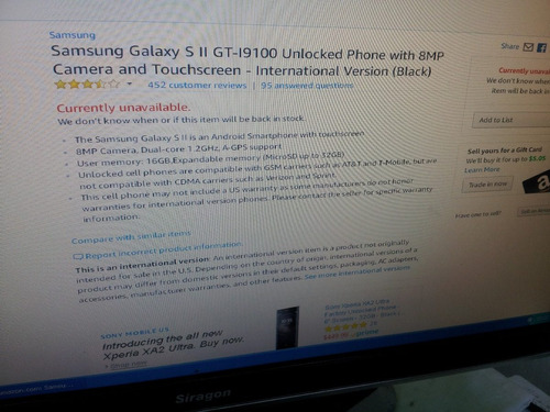 telefono samsung s ii modelo gt-i9100 ver 4.1.2 memoria 10gb