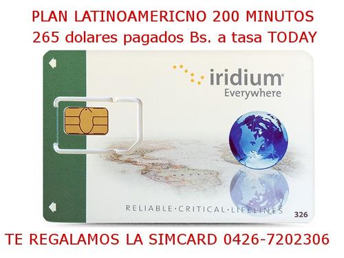 teléfono satelital  (alquiler y recarga)