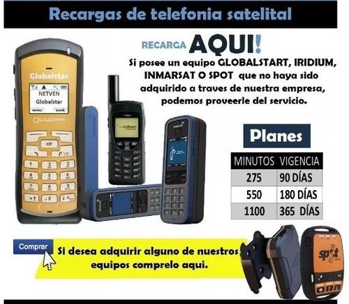 telefono satelital globalstar con 1000 minutos