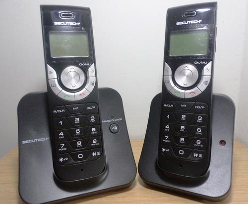 telefono secutech inalambrico morocho color negro