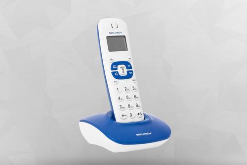 telefono secutech inhalambrico color azul o fuscia