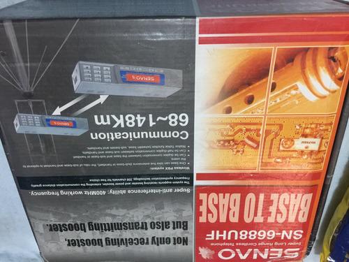 teléfono senao base a base 6688 uhf con antenas