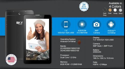 telefono sky 7.0 w nuevo liberado 4 g oferta