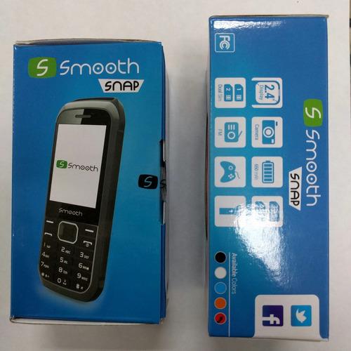 telefono smooth snap - facebook, twitter, doble sim