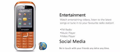 telefono smooth snap - facebook, twitter, doble sim oferta
