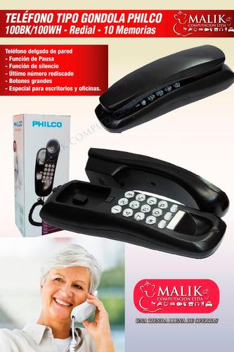 telefono tipo gondola philco 100bk numeros grandes