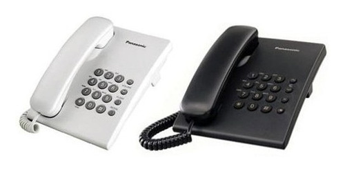 teléfono unilinea blanco panasonic kx-ts500mew negro/blanco