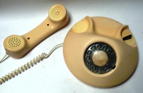 teléfono vintage años 70 redondo aplanado