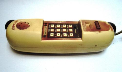 teléfono vintage años 80 forma perro caliente