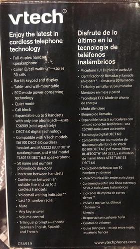 teléfono vtech inalámbrico c/ identificador 6.0 color plata