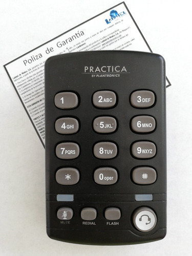 teléfono y diadema plantronics modelo t110