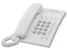 teléfono/alambr 13 memorias panasonic kxts550 blanco o negro